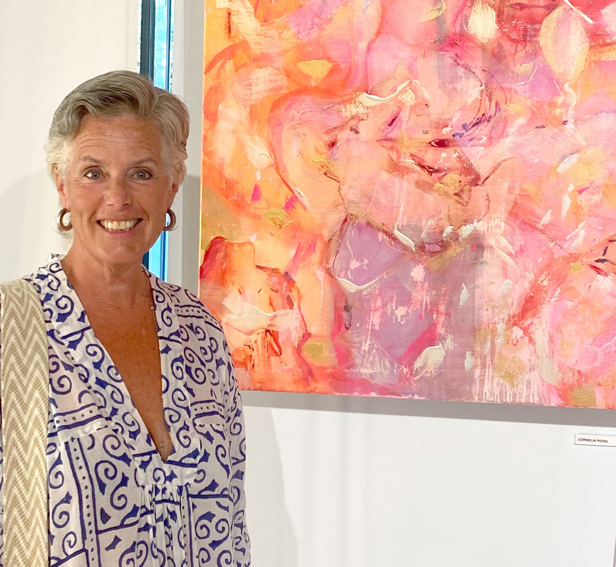 Cornelia Povel 2021 painting MULTIDIMENSIONS 100x80cm